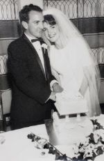 Roger and I cutting our wedding cake on 6 September 1966